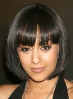 Short Hairstyles with Bangs for Diamond Faces