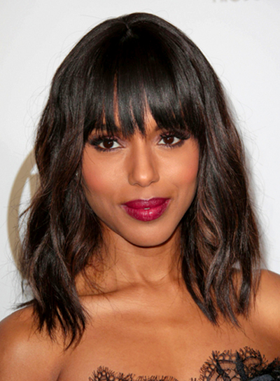 Medium, Brunette Hairstyles with Bangs - Beauty Riot