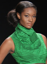 Project Runway Hairstyle Low Bun