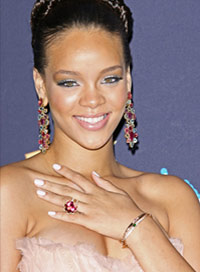 Rihanna Style Evolution Updo
