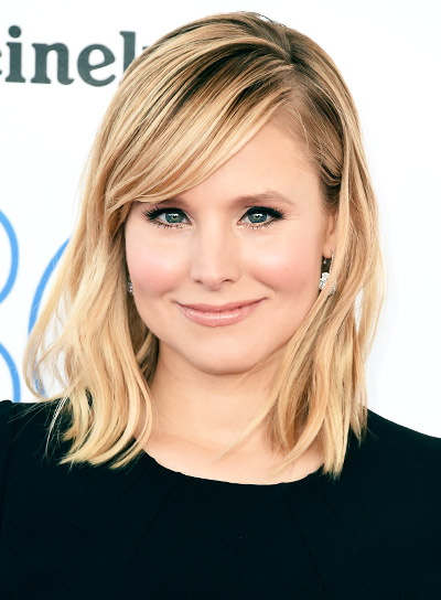 File 5867 Kristen Bell Medium Straight Blonde Sexy Hairstyle Beauty Riot