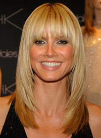 Heidi klums best hairstyles beauty riot heidi klum straight bangs urmus Images