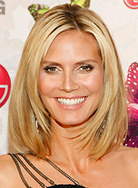 heidi klum 39 s best hairstyles beauty riot. Black Bedroom Furniture Sets. Home Design Ideas