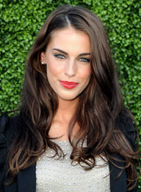 Jessica Lowndes red lipstick