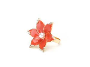 Flower blossom ring