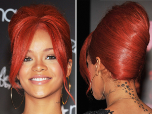 rihanna beehive hairstyle