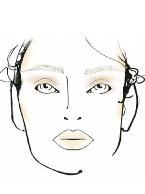 fashion week richard chai face sketch