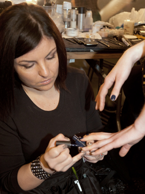 fashion week nail backstage