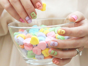 sweetheart candy nails