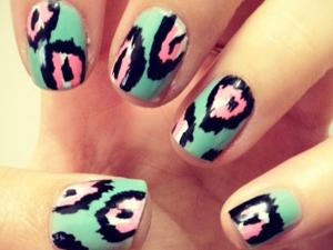 ikat design nail art