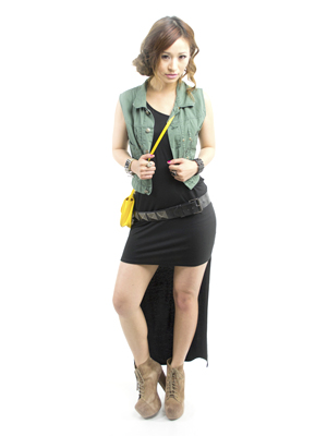 complete outfit with a belt