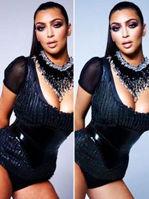Kim Kardashian bad Photoshop