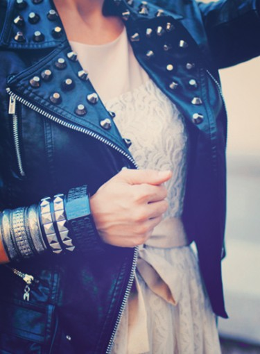 Hot Trend: Leather and Lace