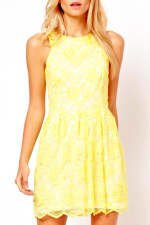 yellow lace sundress