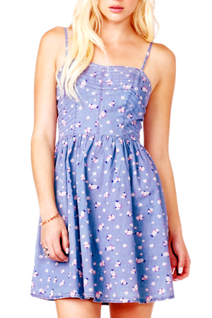 floral denim sundress