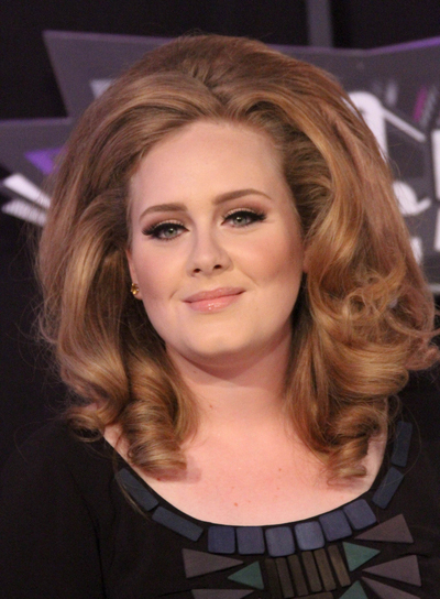 Adele's Medium, Sophisticated, Edgy, Curly Hairstyle