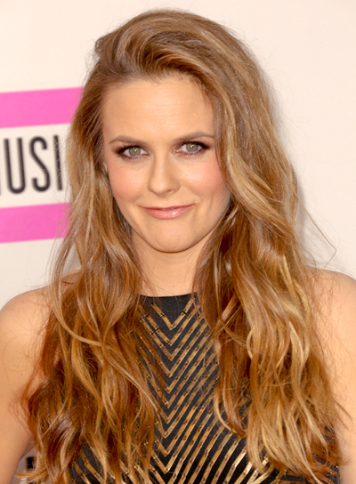 Alicia Silverstone Tousled, Long, Blonde, Wavy Hairstyle