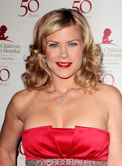 Alison Sweeney Curly, Sophisticated, Blonde, Party, Prom Hairstyle