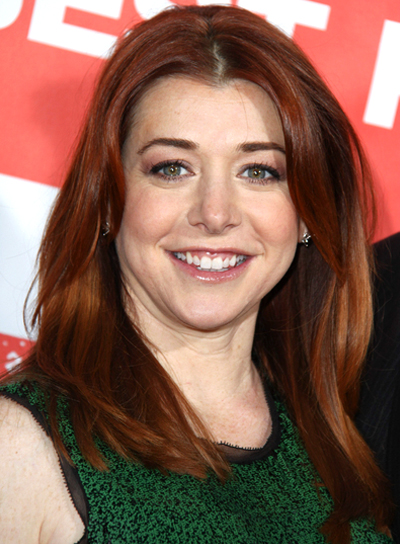 Alyson Hannigan's Medium, Layered, Wavy, Chic Hairstyle