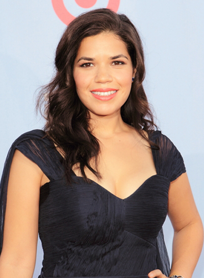 America Ferrera's Long, Romantic, Wavy, Brunette Hairstyle