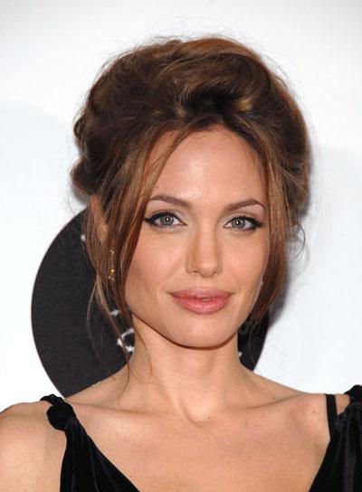 Angelina Jolie Sexy Updo