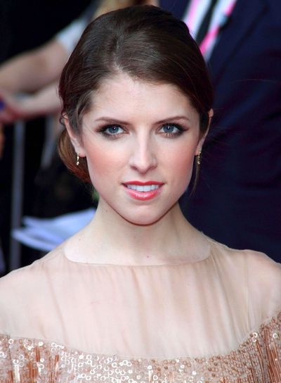 Anna Kendrick's Brunette, Chic, Romantic, Updo Hairstyle
