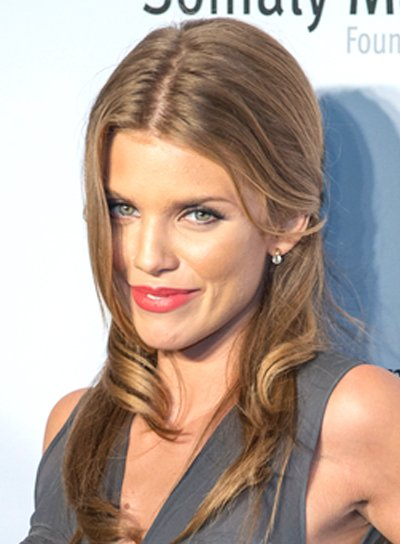 AnnaLynne McCord's Long, Romantic, Wavy, Half Updo Hairstyle
