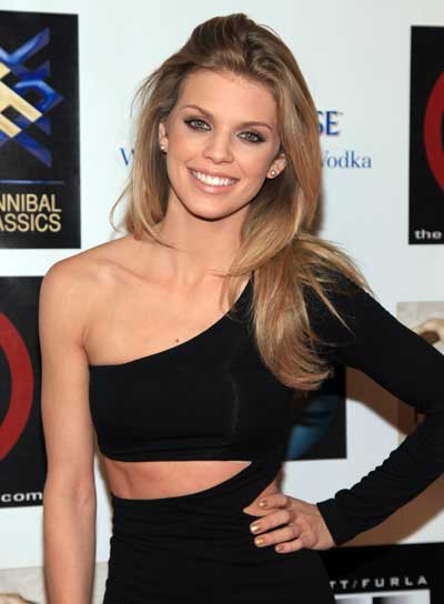 AnnaLynne McCord Long, Straight, Tousled, Blonde Hairstyle
