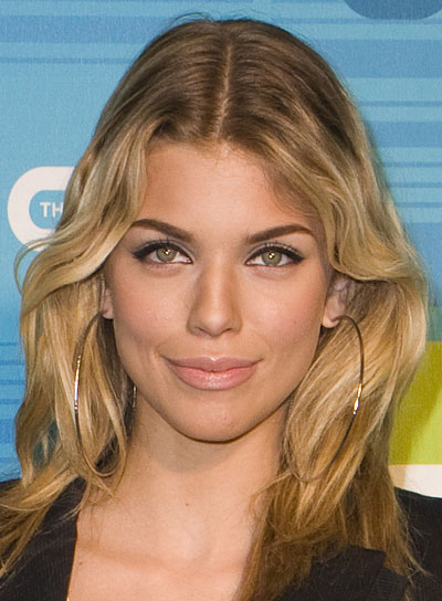 AnnaLynne McCord Medium, Blonde, Tousled Hairstyle