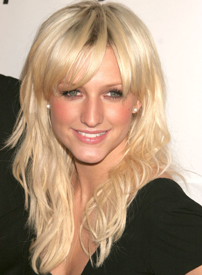 Ashlee Simpson Sexy, Wavy Hair with Bangs