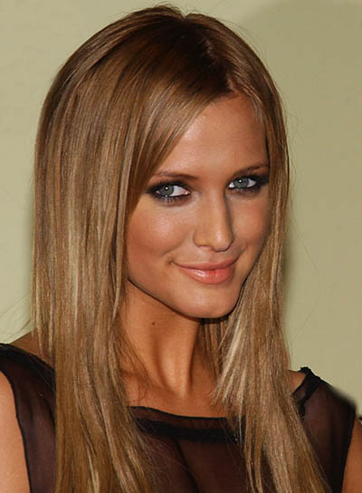 Ashlee Simpson Long, Straight, Blonde Hairstyle