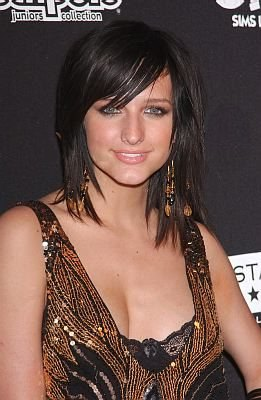Ashlee Simpson Sexy, Medium-Length, Shag Hairstyle