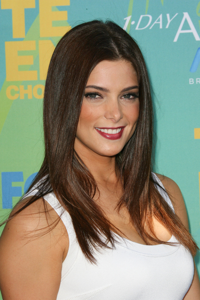 Ashley Greene Long, Straight, Sophisticated, Brunette Hairstyle