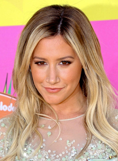 Ashley Tisdale's Long, Blonde, Wavy, Chic Hairstyle