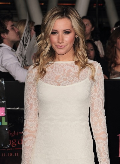 Ashley Tisdale Long, Sexy, Party, Curly, Blonde Hairstyle