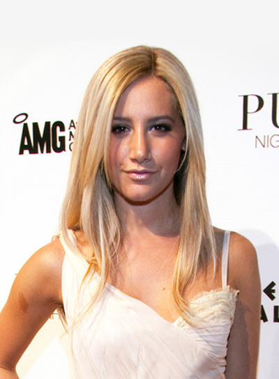 Ashley Tisdale Long, Straight, Blonde Hairstyle