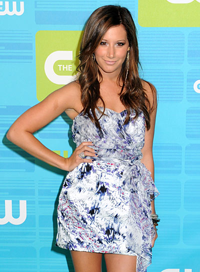 Ashley Tisdale Long, Wavy, Brunette Hairstyle