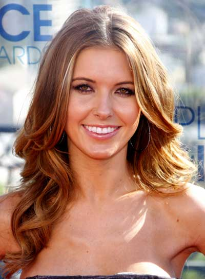 Audrina Patridge Long, Curly, Romantic, Brunette Hairstyle