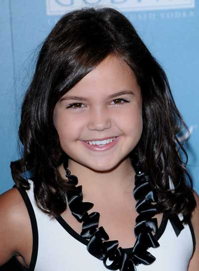 Bailee Madison Medium, Curly, Brunette Hairstyle
