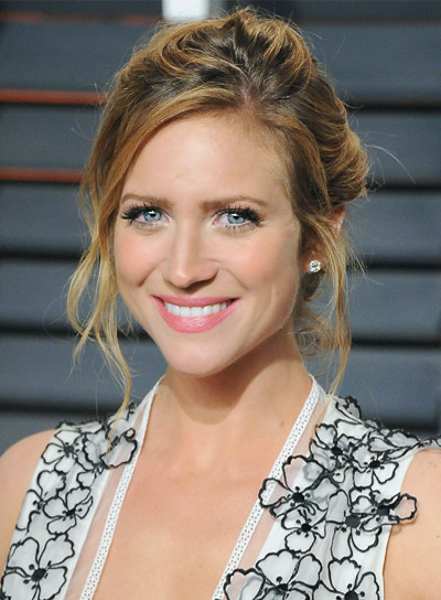 Brittany Snow Medium, Wavy, Blonde, Formal Hairstyle with a Braid