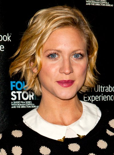 Brittany Snow's Short, Blonde, Tousled, Wavy Hairstyle