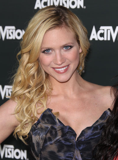 Brittany Snow Blonde, Curly, Tousled Hairstyle