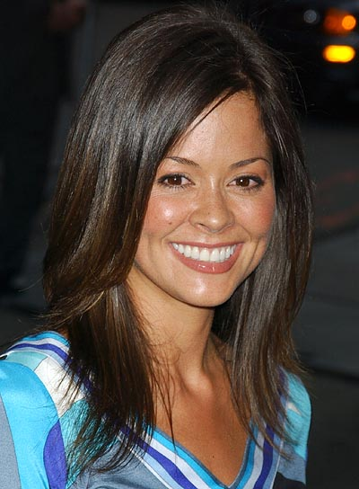 Brooke Burke Straight, Layered Hairstyle