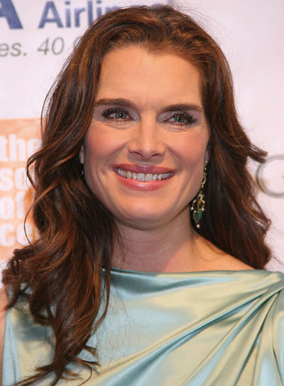 Brooke Shields Long, Wavy, Romantic Hairstyle