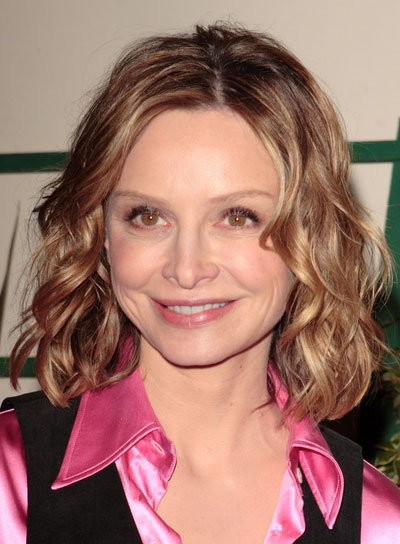 Calista Flockhart Short Curly Brunette Hairstyle