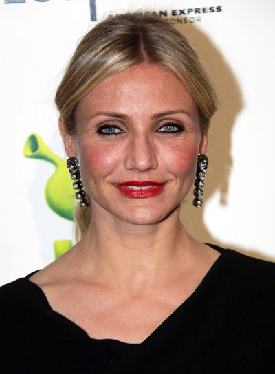 Cameron Diaz Straight, Chic, Blonde Ponytail