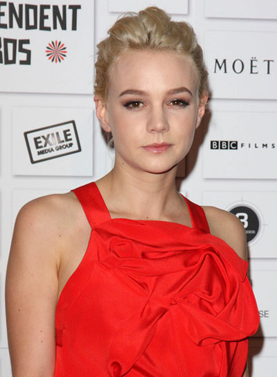 Carey Mulligan Short, Blonde Updo