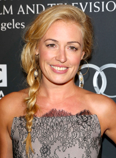 Cat Deeley's Long, Blonde, Romantic Hairstyle with Braids and Twists