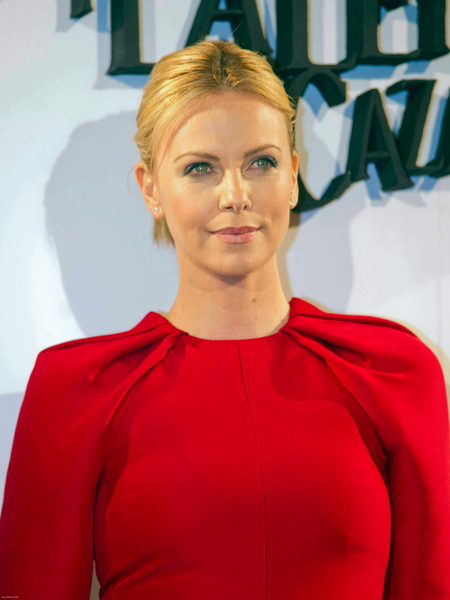 Charlize Theron's Sophisticated, Chic, Updo, Blonde Hairstyle
