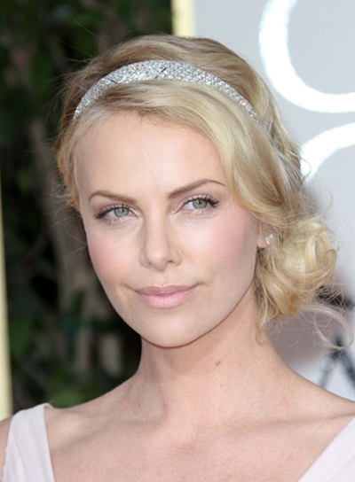 sophisticated hair up styles charlize theron riot 7105